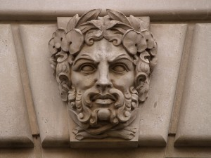 Limestone Green Man Mascaron, Fourteenth Street NW (Washington, DC) by takomabibelot_creative-commons-license_flickr