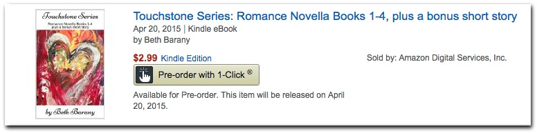 TOUCHSTONE SERIES by Beth Barany-On preorder until April 20 2015