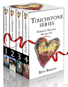 Touchstone Series: Romance Novella Books 1-4, plus a bonus short story, by Beth Barany
