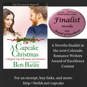 A CUPCAKE CHRISTMAS was chosen as a Novella finalist in the 2016 Colorado Romance Writers Award of Excellence Contest
