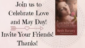 Celebrating Love and May Day! Labyrinth of Love and Roses-invite