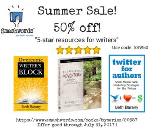 Books for Writers by Beth Barany, Summer Sale at Smashwords