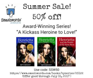 Beth Barany's books on Smashwords, 50% off during Summer Sale 2017