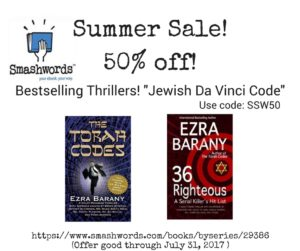 Ezra Barany's book on Smashwords, Sommer Sale 50% off!